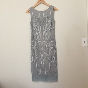 Dresses & Skirts - Adrianna Papell  sage green beaded dresses.
